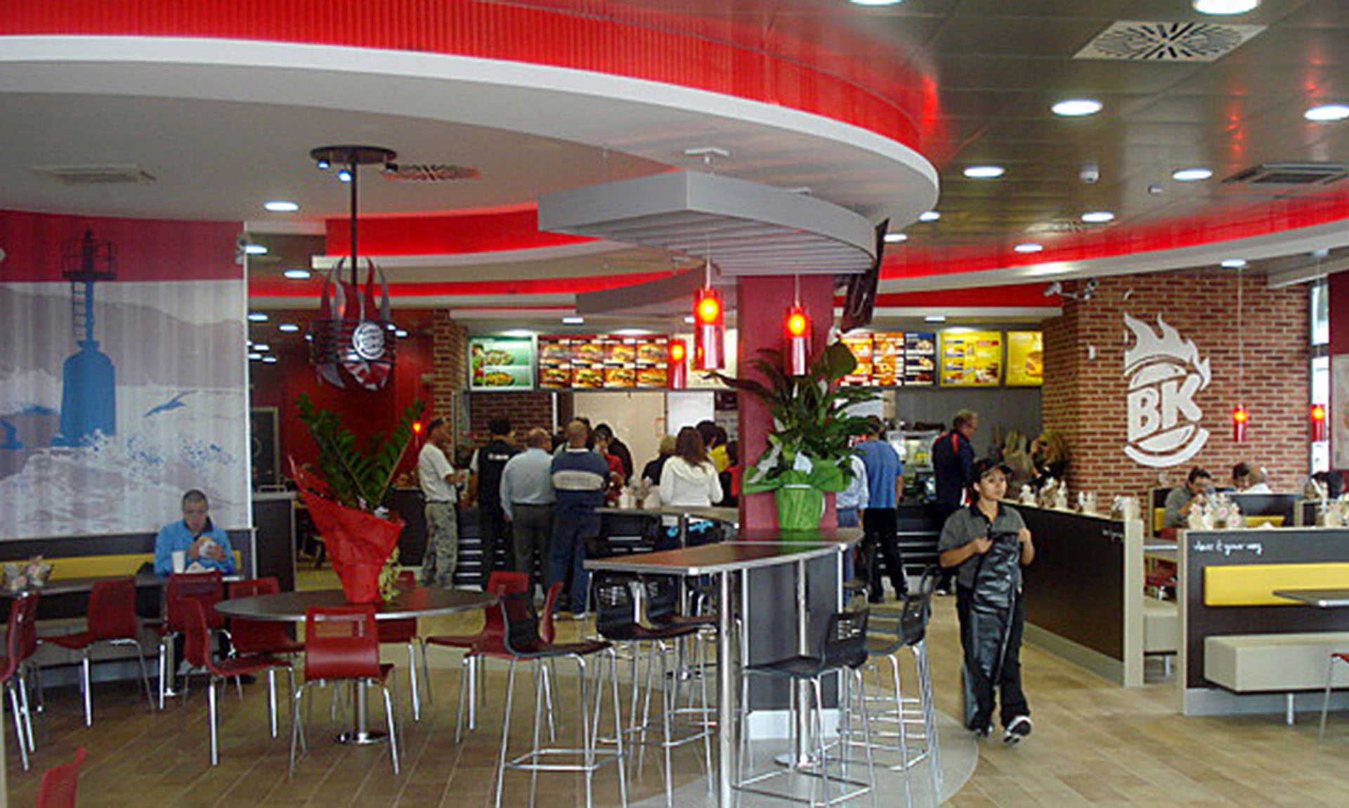 Modern catering decor cnc group for Arredamento fast food